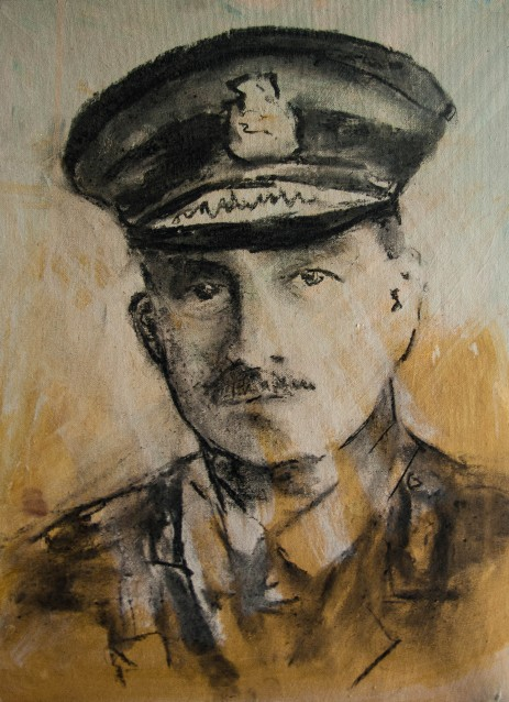 Charcoal Sketch of the Military John Monash